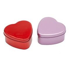 Simple Heart-shaped Favor Tin