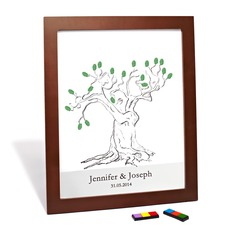 Personalized Tree Design Canvas Fingerprint Painting