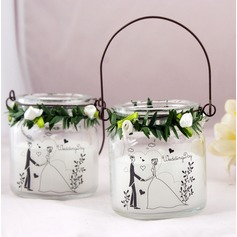 Wedding Themed Candles in Glass Jar-Couple (096024938)