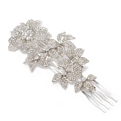 Eye-catching Alloy/Austrian Crystal Combs & Barrettes
