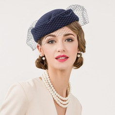 Ladies' Vintage Wool With Tulle Fascinators