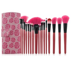 Rose Professional Makeup Brushes (18 Pcs )