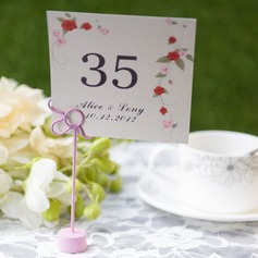 Personalized Flower Design Card Paper Table Number Cards (Set of 10)