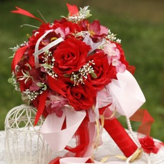 Special Round Satin Bridal Bouquets