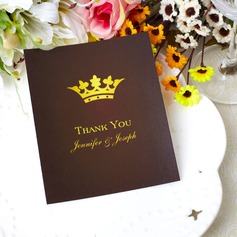 Personalized Crown Design Paper Thank You Cards (Set of 50)