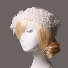 Elegant Lace/Tissue/Freshwater Pearl Fascinators/Headbands