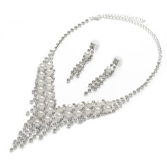 Artistic Alloy/Pearl/Rhinestones Ladies' Jewelry Sets
