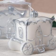 Carriage Design Candle With Ribbons