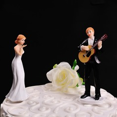 "Figurine ""Play Guitar for You"" Resin Wedding Cake Topper"
