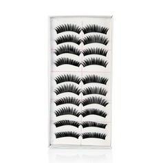 Long, Curved Fashion Lashes With Added Volume - 10 Pairs Per Box