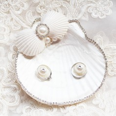 Beach Themed Ring Pillow in Seashell With Faux Pearl