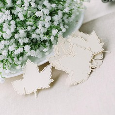 Maple Leaf Pearl Paper Place Cards