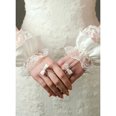 Lace Wrist Length Bridal Gloves