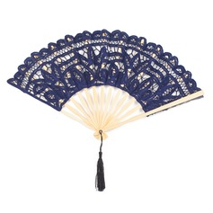 Flower Design Bamboo/Cotton Hand fan