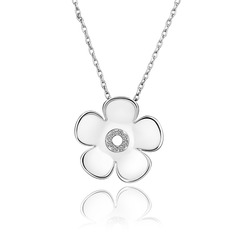 Lovely Platinum Plated Tin Alloy With Czech Stones Ladies' Fashion Necklace