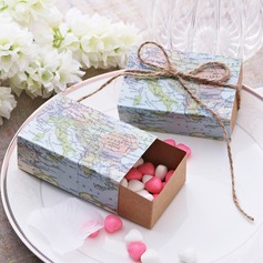 """Around the world"" Cuboid Favor Boxes With Ribbons"