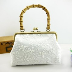 Elegant Cotton/Lace Clutches/Bridal Purse