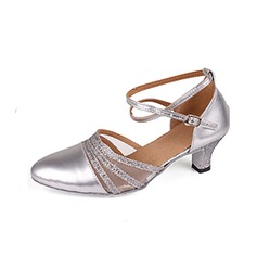 Women's Leatherette Sparkling Glitter Heels Modern With Buckle Dance Shoes