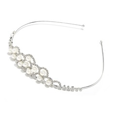 Lovely Alloy/Imitation Pearls Tiaras