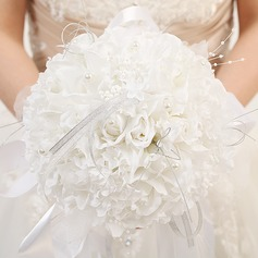 Charming Round Satin/Ribbon Bridal Bouquets
