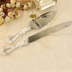 Personalized Stainless Steel Serving Sets With Diamond Rhinestone