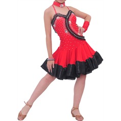 Enfants Tenue de danse Polyester Danse latine Robes (115086688)