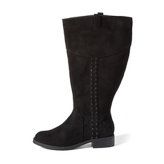 Women's Suede Low Heel Boots Mid-Calf Boots shoes