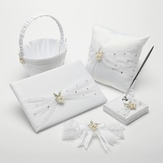 Deluxe Chic Collection Set in Satin With Rhinestones