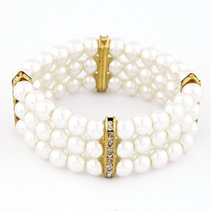 Unique Alliage avec Perles d'imitation Dames Bracelets