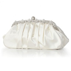 Clutches Special Occasion Silk Chain Handbags With Crystal/ Rhinestone (012011035)