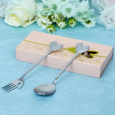 Heart Shaped Stainless Steel Spoon And Fork Set