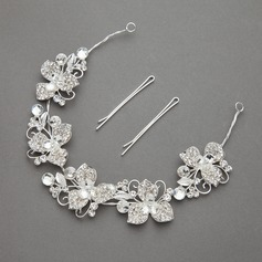 Flower Shaped Rhinestone/Alloy Headbands