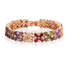 Exquis Zircon de/Plaqué or rose Dames Bracelets