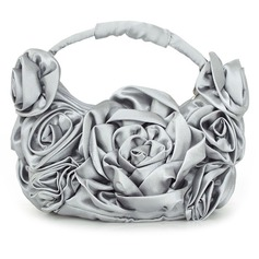 Charming Silk With Flower Wristlets