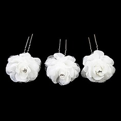 Lovely Satin Flower Girl Hairpins/Headpiece (Set of 3)  (042024261)