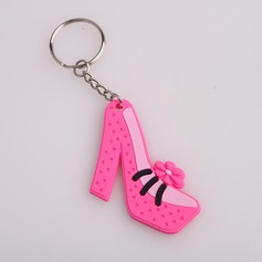 Lovely Shoes Design Plastic Keychains