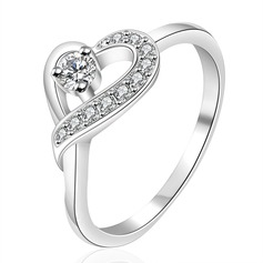 Beautiful Silver Plated With Rhinestone Fashion Rings