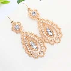 Shining Alloy/Imitation Pearls Ladies' Earrings