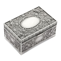 Exquisite Alloy/Silver Plated Ladies' Jewelry Box