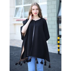 Solid Color Oversized/Shawls Clothes can be worn on both sides Poncho