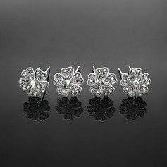 Fashion Rhinestone Alloy Hairpins Set Of 4