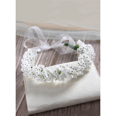 Tulle/Artificial Silk Flower Headband