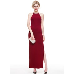 Sheath/Column Square Neckline Ankle-Length Jersey Evening Dress