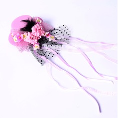 Elegant Silk Flower/Satin Fascinators/Flowers & Feathers