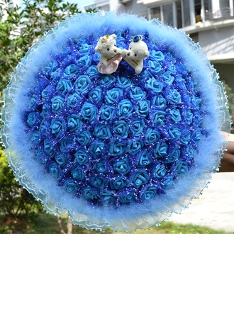 99 Roses Round Foam Bridal Bouquets