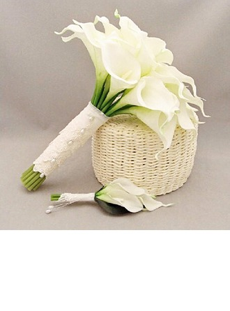 Simple And Elegant Round PE/Lace Boutonniere/Bridal Bouquets