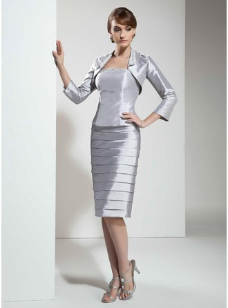 Knee-Length, Silver, Mother of the Bride Dresses, Mother Bridal ...