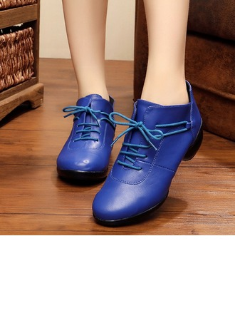 Women's Leatherette Flats Sneakers Latin Jazz Practice Party Tango Dance Shoes