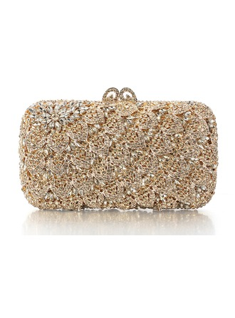 Elegant Rhinestone/Silver Plated Bridal Purse/Luxury Clutches