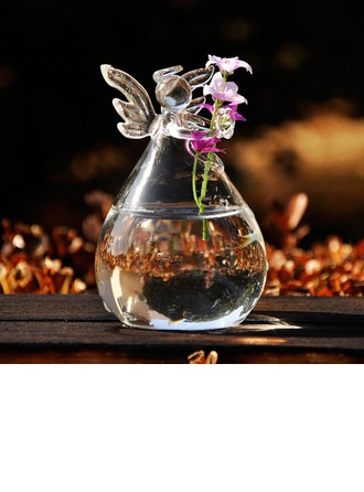Angel design Glass Vase